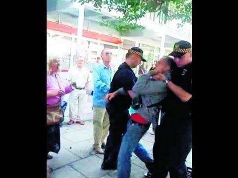 Brutalna akcja Straży Miejskiej z Łodzi na targowisku Dąbrowa