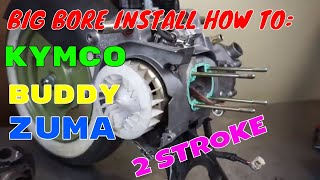 9. 70cc scooter big bore cylinder kit install