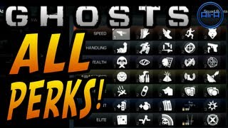 GHOSTS Multiplayer - ALL PERKS! New Perk System&Info! - (Call Of Duty Ghost Online)