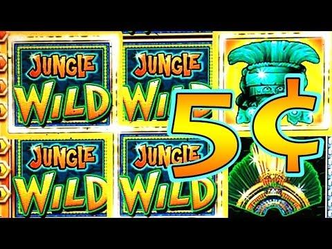 5¢ Jungle Wild Slot Machine Bonus Rounds WMS Slot Machine