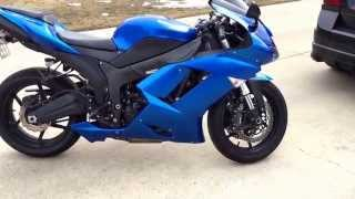 6. 2008 Kawasaki Ninja ZX-6R walk around and start up