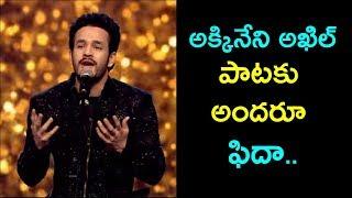 Akhil Akkineni Superb Song Performance at SIIMA Awards 2017