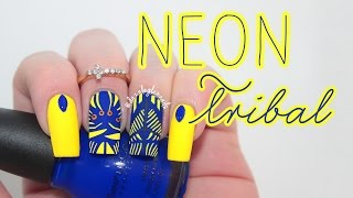 Hand Painted Tribal Nail Art Tutorial - YouTube