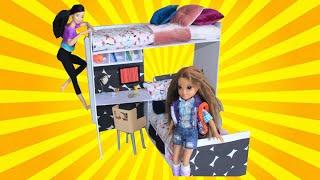 Video Barbie İki Katlı Yatak Nasıl Yapılır? DIY - Kendin Yap Barbie Eşyaları Bidünya Oyuncak Çocuk Videosu MP3, 3GP, MP4, WEBM, AVI, FLV November 2017