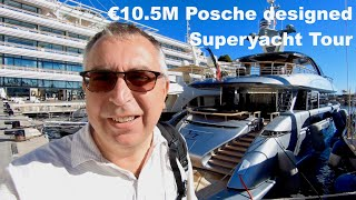 Video Porsche designed €13.9M superyacht tour : Dynamiq GTT115 MP3, 3GP, MP4, WEBM, AVI, FLV Maret 2019