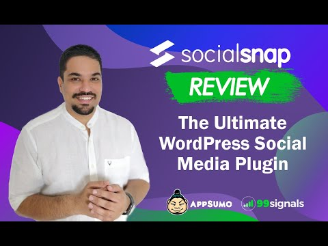 Watch 'Social Snap Review & Walkthrough: Add Social Share Buttons to Your WordPress Site [AppSumo Deal] - YouTube'