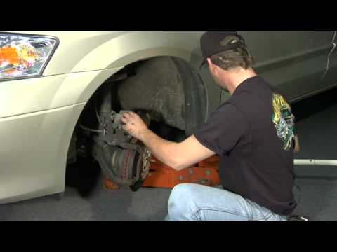 change brakes - When changing brake pads on a car, make sure the car is jacked up, remove the bolts on the caliper and remove the brake pads. Replace brake pads in a car wit...