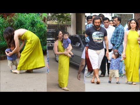 Taimur SURPRISES Mommy Kareena Along With Daddy Saif At Mehboob Studios
