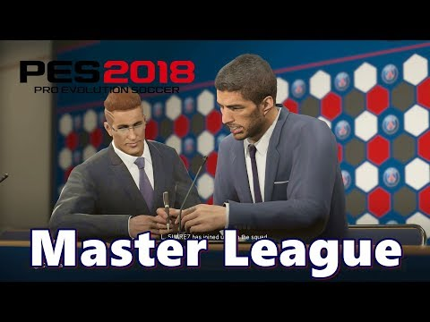 PES 2018 Master League Gameplay PSG Transfer PS4 HD