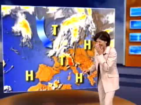 News Blooper - Weather woman cannot stop laughing