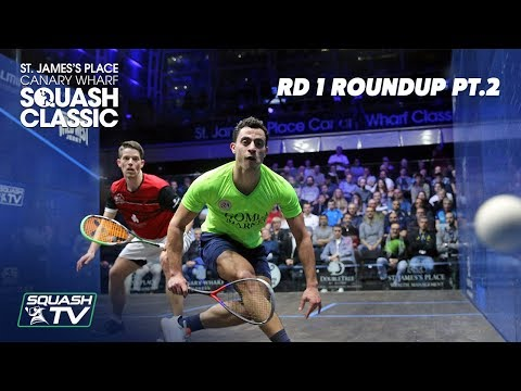 Squash: SJP Canary Wharf Classic 2020 - Rd 1 Roundup [Pt.2]