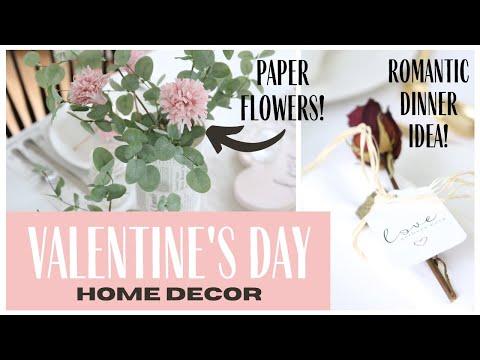 Valentine's Day Decor 2021 ~ Romantic Dinner Idea ~ Valentine's Day Tablescape ~ DIY Decor Ideas