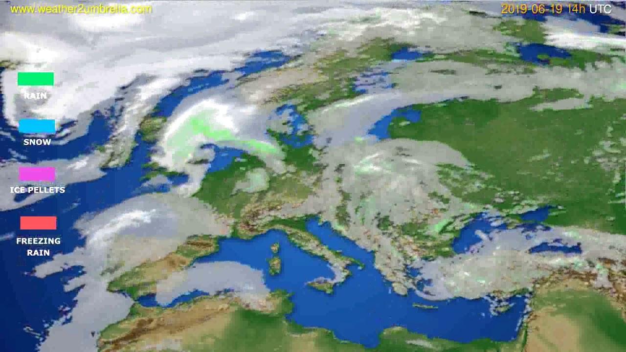 Precipitation forecast Europe // modelrun: 00h UTC 2019-06-17