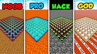 Minecraft NOOB vs. PRO. vs. HACKER vs GOD: ARMY BASE CHALLENGE in Minecraft! (Animation)