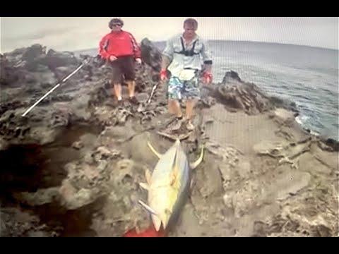 spettacolare tonno da 94 kg dalla scogliera!