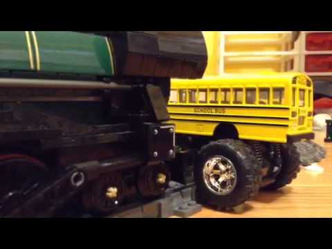 Big Wheel vs Bus - Too big!