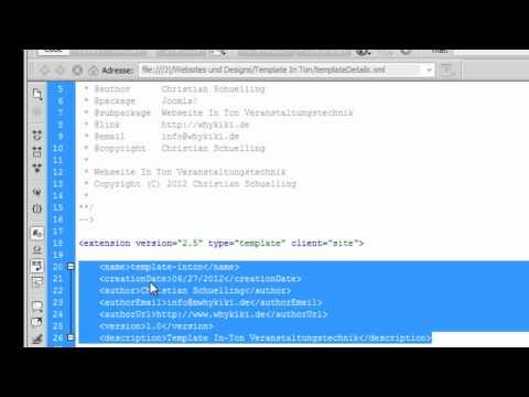 Tutorial Joomla Template erstellen: 1. Die Grundlagen – Einführung in Joomla Templates