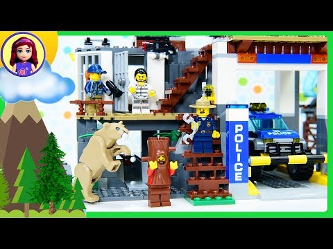 Lego City Mountain Police Headquarters Build the Police Station Review Silly Play Kids Toys (видео)