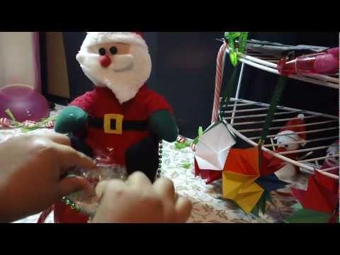 TRINEO de SANTA CLOS dulsero o porta regalo de NAVIDAD reciclado