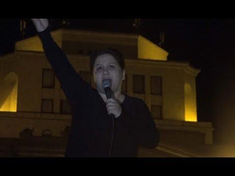 Այստեղ եկել եմ սրտանց. Սոնա Շահգելդյանի ելույթը՝ Հանրապետության հրապարակից - DomaVideo.Ru