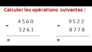 Maths 6ème - Les opérations : Addition Soustraction Multiplication Division Exercice 4