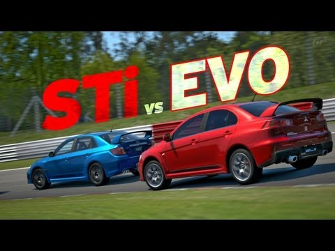 Gran Turismo 5  - GT5 - STi vs. EVO at Nürburgring Nordschleife - SUB SHOWDOWN