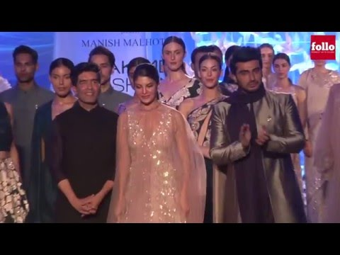 Kareena, Arjun and Jacqueline walk Ramp for Manish Malhotra