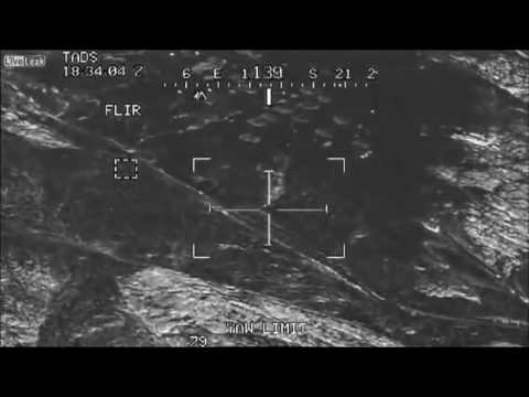 AH64 Apache Attack Helicopter Gun Camera Taliban Kill In Afghanistan