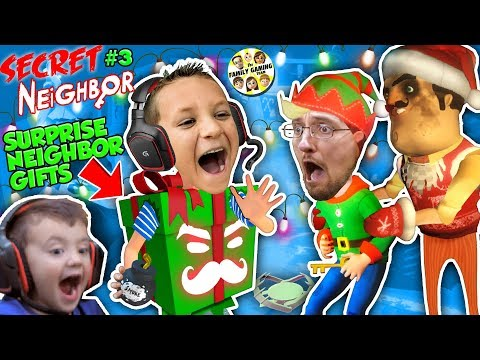 HELLO NEIGHBOR SURPRISE GIFTS!! 🎁 FGTEEV plays SECRET NEIGHBOR #3 (Christmas Map)