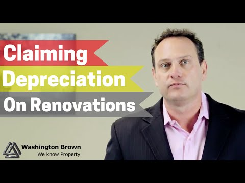 Can I claim the depreciation renovation on a property? thumbnail