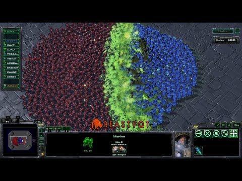 StarCraft 2: 700 Marines VS 350 Banelings!!