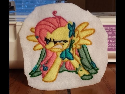 My Little Pony Embroidery ~ Angry Fluttershy [Flutterbitch] ~ Brother SE-400