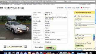Kijiji Kamloops Used Cars - For Sale by Owner Options Under $5000 Plentiful in 2012