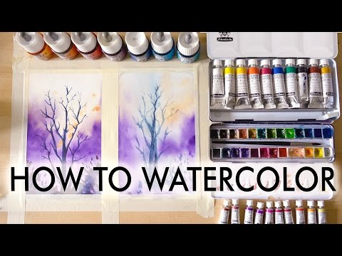 【HOW TO WATERCOLOR】Tutorial For Beginners
