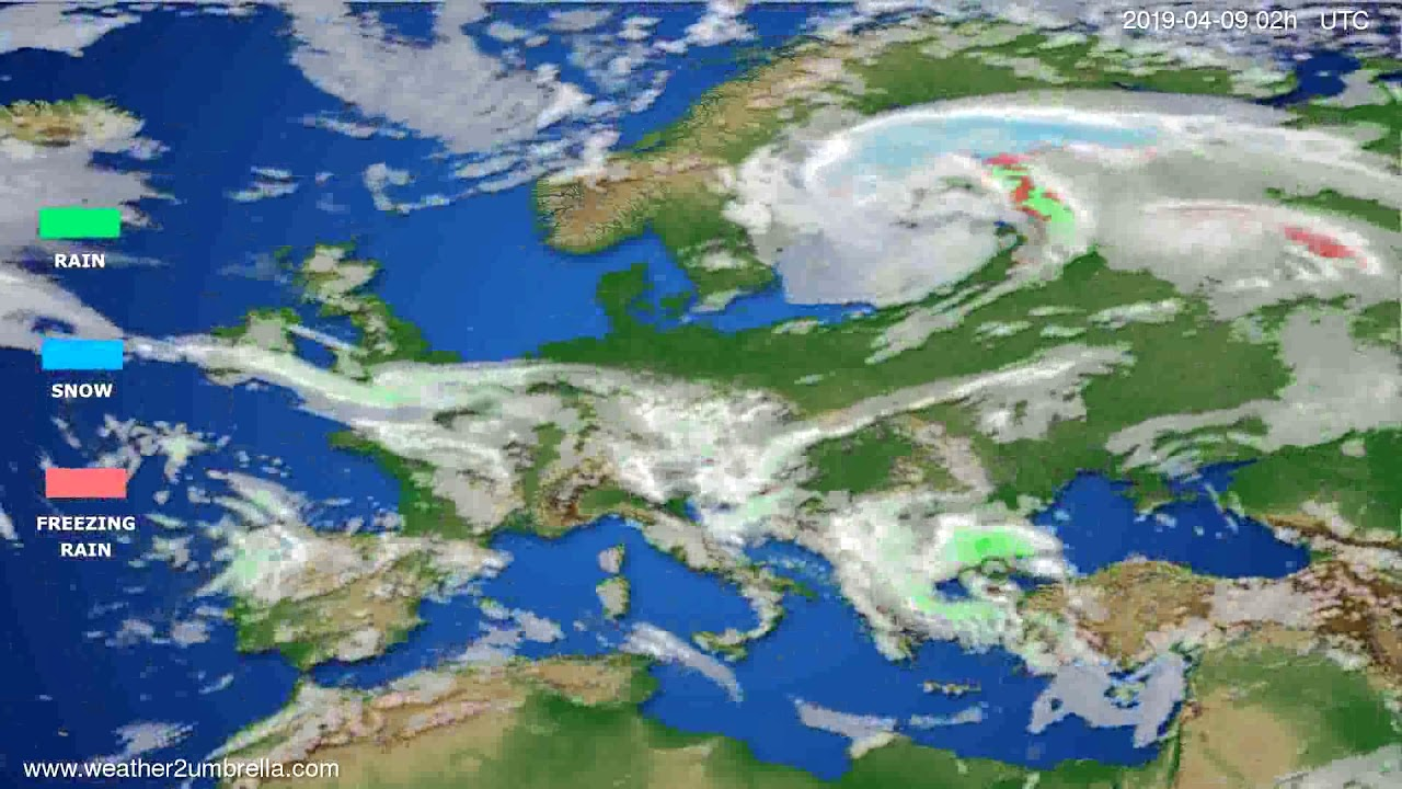 Precipitation forecast Europe // modelrun: 12h UTC 2019-04-06