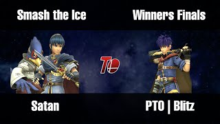 Smash the Ice: Winners Finals set between PTO | Blitz and Satan (Ike vs Marth set), sick set from Ontario, Canada