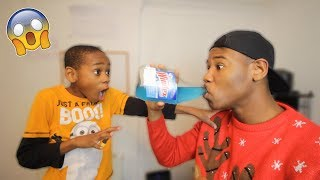 Drinking Windex Prank On Little Brother! (Freakout)