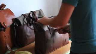 Leather Care: Applying Cream on a Veg. Tanned Leather Bag