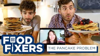 She kept messing up our pancake recipe so we made 3 foolproof techniques by Brothers Green Eats
