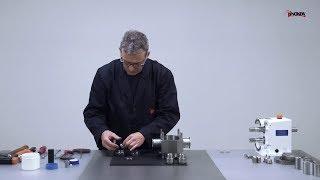 SLR lamelové čerpadlo - proces montáže dvojitých mechanických ucpávek