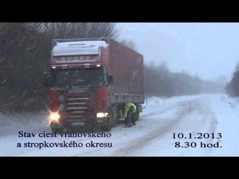Snehové prekvapenie na cestách vranovského a stropkovského okresu
