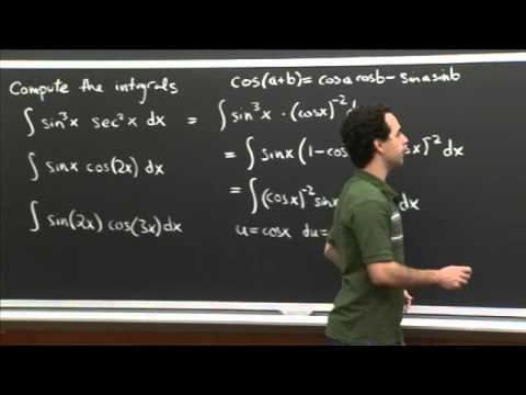 Trig Integral Practice | MIT 18.01SC Single Variable Calculus, Fall 2010