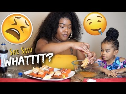 A Subscriber Came For Me | HILARIOUS First MUKBANG | 8 Lobster Tails: Messy Eating & Smacking Noises