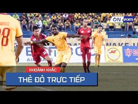 Tình huống nóng nảy & nhận thẻ đỏ trực tiếp của Rimario sau pha đeo bám của cầu thủ Hải Phòng - Thời lượng: 75 giây.