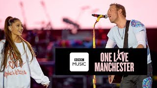 Video Chris Martin and Ariana Grande - Don't Look Back In Anger (One Love Manchester) MP3, 3GP, MP4, WEBM, AVI, FLV Januari 2019