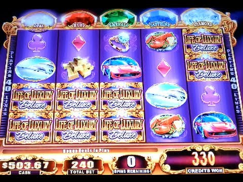 Life of Luxury Line Hit + Bonus Win WMS Slot Machine