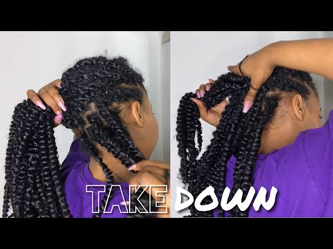 Passion Twist Takedown + Tips On Maintenance | How To Remove Passion Twist | Kinzey Rae