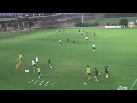 בוקי באימון כושר משולב מכבי חיפה 2015