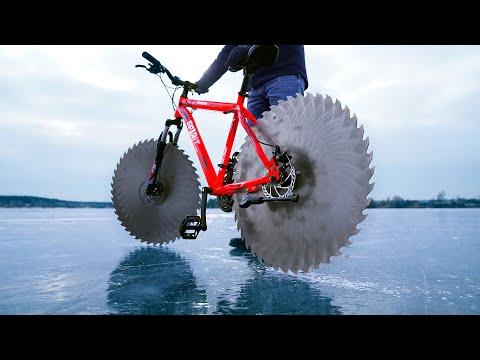 Jak zrobić rower do jazdy po lodzie… Lepiej nie stać blisko niego!
