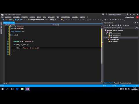 Visual Studio Tutorial - Scrivere Un Testo - #21 - [C++] [ITA]